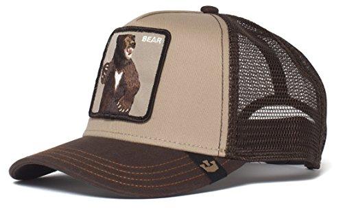 Goorin Bros. Men's Animal Farm Snap Back Trucker Hat, Brown Bear, One Size (Stars Baseball Bear)