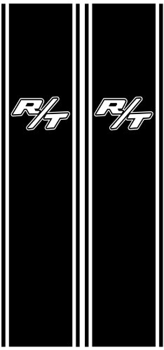 (Vehicleartz Black Rear Panel Decal fit Dodge Trucks - with R/T Cutouts )