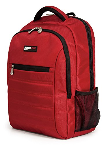 Mobile Edge Smartpack 15.6 Inch Laptop Backpack with Separate Padded Tablet Compartment Crimson Lightweight Red for Men, Women, Students MEBPSP7 ()