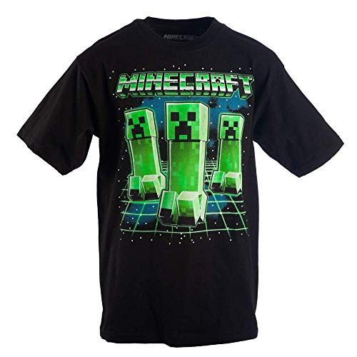 Minecraft Glowing Creepers Big Boys Youth T-Shirt Licensed -