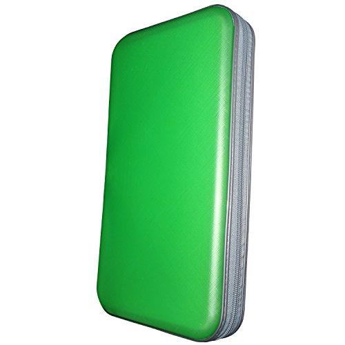 80 Dvd Storage Rack - Faylapa 80 Capacity DVD/CD Case Heavy Duty Hard Plastic Protective CD/VCD/DVD(Green)