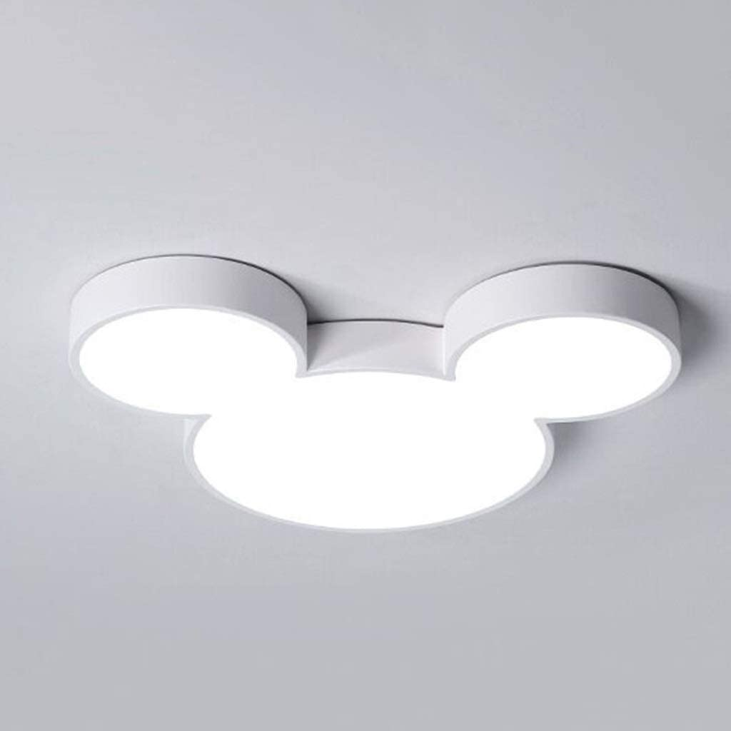 WZJ-Deckenleuchte Cartoon Kreative Disney Mickey Modell LED3 Farbe Energiespar Augen Kinderzimmer Dekorative Beleuchtung Deckenleuchte Color : Blue, Gr/ö/ße : 48cm
