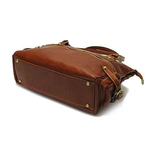 Brown Red Size Handbag Vecchio Monticello One Floto S8Htq