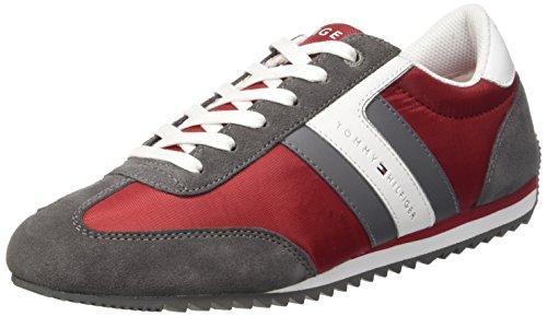 Tommy Hilfiger B2285Ranson 8C_1 - Zapatillas para hombre Rosso (Tango Red/Steel Grey 611)