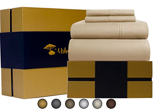 Egyptian Cotton Sheets Set (4 Piece) 1000 Thread Count - Bedspread Deep Pocket Premium Bedding Set, Luxury Bed Sheets for Hotel and Home Collection Soft Sateen Weave Perfect Gift (King, - Christmas Day Open Macy's