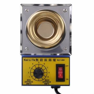 Solder Pot Soldering Desoldering Bath Titanium Melting Plate 110V 220V 500G 50mm
