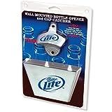 Miller Lite Bottle Opener / Metal Bottle Cap Catcher Set