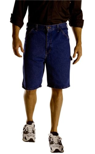 Carpenter Short Washed - Dickies Men's Big 9 1/2 Inch Lghtweight Denim Carpenter Short, Indigo Blue, 50