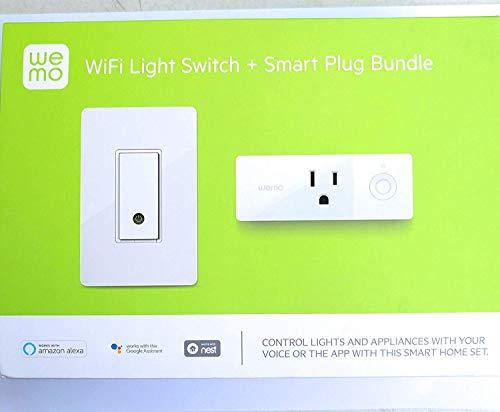 WeMO WiFi Light Switch + Smart Plug Bundle