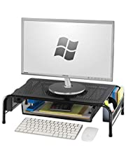 SimpleHouseware Monitor Stand Riser with Organizer Drawer for Computer