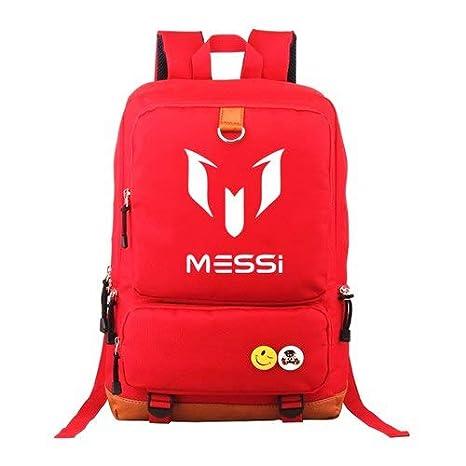 Amazon.com: Logo Messi Backpacks Teenagers School Bags ...