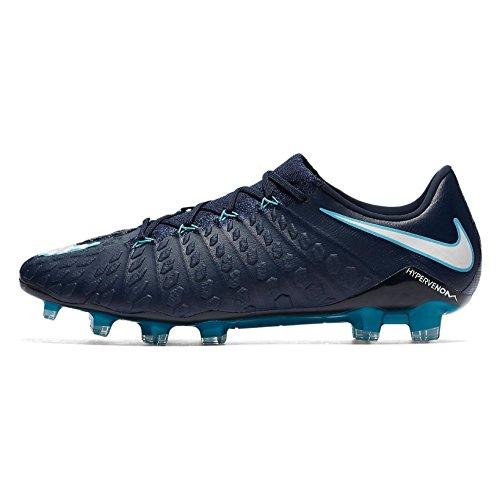 Nike Hypervenom Phantom Iii Fg Mens 852567-414 Obsidian / Wit-gamma Blue-gletsjer Blue