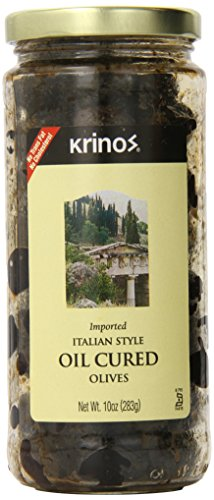 Krinos Olives, Italian Style Oil Cured, 10 Ounce (pack of 6)