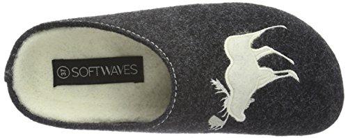 250 Grau Gris Chaussons Hausschuh Dk Softwaves Femme Grey W7qIXfw8