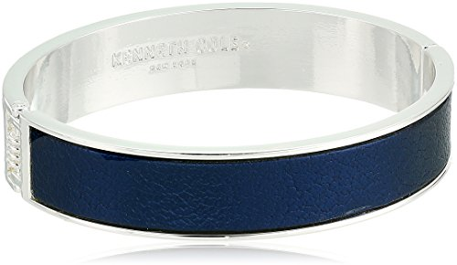 Kenneth Cole New York Bangle Bracelet - Kenneth Cole New York Dark Blue Leather Hinge Bangle Bracelet