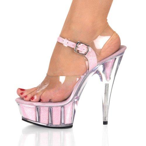 matrimonio sandali GTVERNH tacchi scarpe scarpe ultra trentotto trasparenti cristallo 15cm di notturni locali scarpe rosa scarpe sexy impermeabile PPq8Ur
