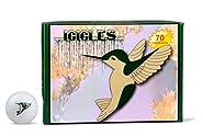 ICICLES Women's V Golf Humming Bird Ball, White