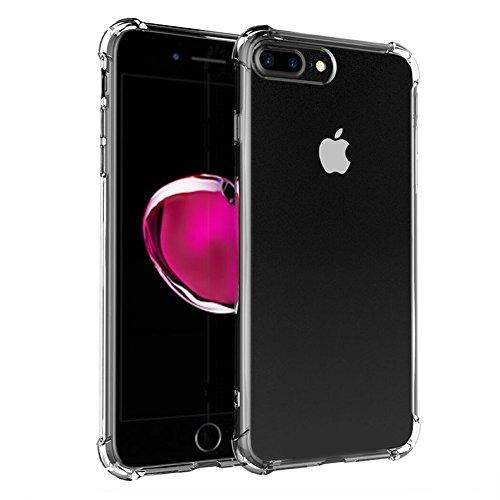 """Coque Apple iPhone 7 Plus (5.5""""), MSVII® Air-Cushion Design TPU Souple Transparent Coque Etui Housse Case et Protecteur écran Pour Apple iPhone 7 Plus (5.5"""") JY70024"""