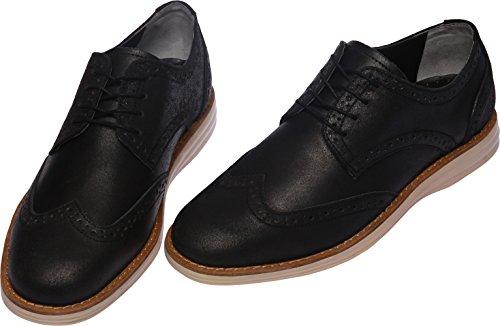 Gadea-021 Menns Uformelle 4-hull Skinn Kjole Loafers Sko Svart Elfenben