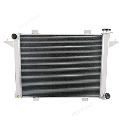 STAYCOO 3 Row All Aluminum Radiator for 1989-1993 Dodge D250 D350 W250 W350 5.9L Diesel Turbo Cummins Engine