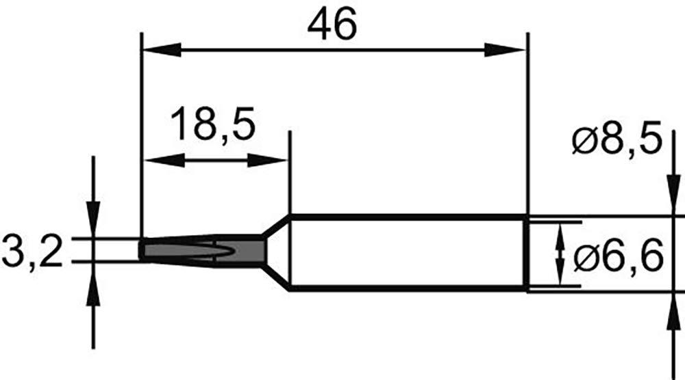 Panne de fer /à souder longue dur/ée 3.2mm ERSADUR type 832 Ersa 832 ED LF