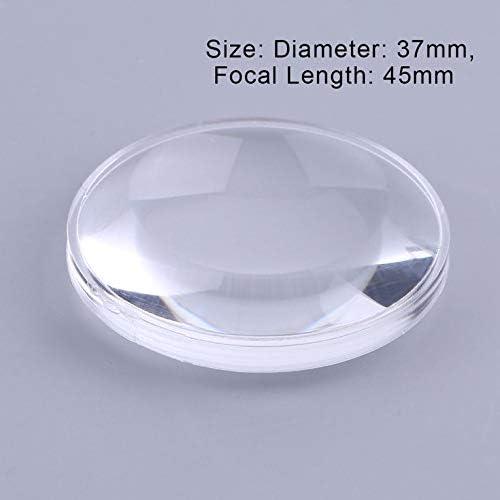 1 PCS 37 mm Durchmesser Double Aspheric Convex Lens 45 mm Brennweite Virtual Reality VR Biconvex Lens Optics Lens f/ür Kameraprojektor