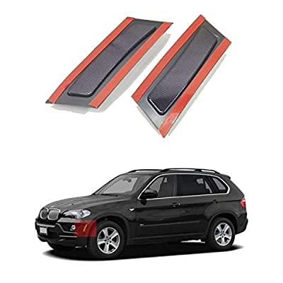 Crystal Clear/Smoke/Amber/Dark Grey/Red Lens Front Bumper Side Marker Reflector Light Fender Replacement for 2007-2010 BMW X5 E70 Pre-LCI (Dark Grey Lens): Automotive