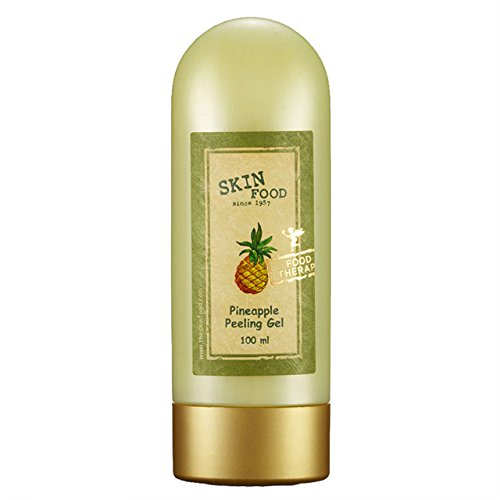 SKIN FOOD Pineapple Peeling Gel 3.38 fl.oz. (100ml) - Pineapple and Aloe Contained AHA Deep Facial Exfoliating Gel, Eliminates Sebum, Skin Clear and Blemish-Free ()