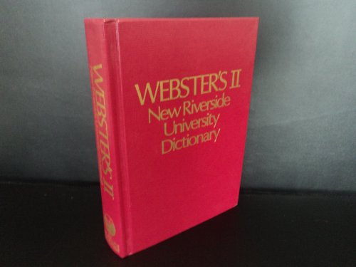 Webster's II New Riverside University Dictionary