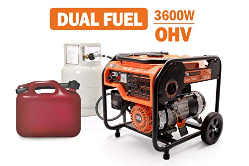Etq TG32P31 3600W Portable Generator, Home Generator (TG32P31DF 3600W Dual Fuel Generator - Use Gas or LPG/Propane)
