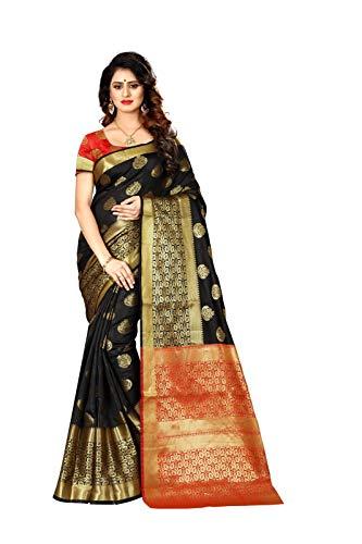 Indian Pakistani Ethnic Wear Sarees for Women Banarasi Silk Woven Sari 9031 (Mustard Yellow)