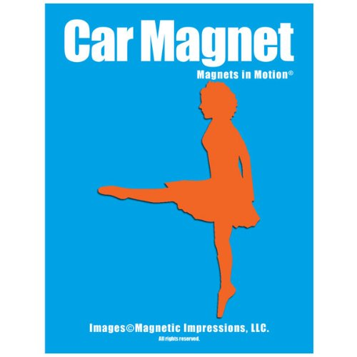 Irish Dancer Car Magnet Orange for sale  Delivered anywhere in USA