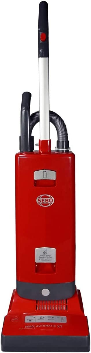 Sebo Automatic X7 Upright Vacuum (Red) with no Brush-Mode Button or Headlight