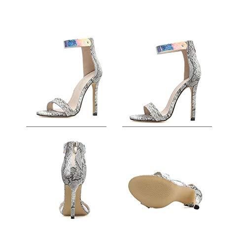 Mode Ghfjdo Mesdames Sandales Hauts Stiletto Boucle Talons Party Aiguilles Femmes Gray À Chaussures Pompes Robe Pointu Les Heels Lanières rY7wq0Xr