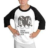 Cotton Round Neck T Shirts Active Death from Above 1979 Half Raglan Sleeve Black Tee Unisex S