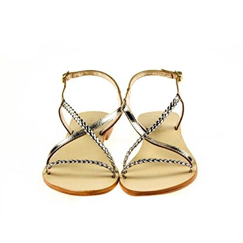 JONAK Damen Sandale Leder Gold