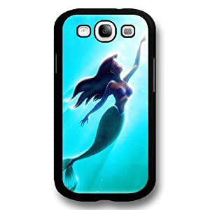 Classic Disney Cartoon Movie The Little Mermaid Ariel Hard Plastic Phone Case Cover for Samsung Galaxy S3 - Black
