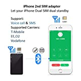 Laiford Dual SIM Card Adapter for iPhone X 8 7 6 S Plus iPad iPod iTouch,Wireless Bluetooth,Stainless Metal Frame,Phone Call SMS Remote Control Camera Longtime Standby Factory Direct Price (Black)