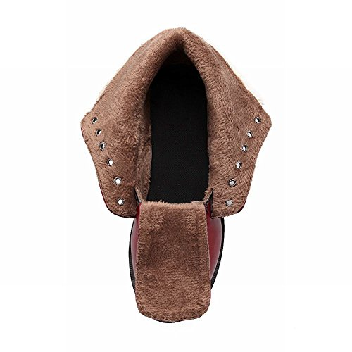 Mee Shoes Damen Niedrig warm gefüttert mit Schnürsenkel Stiefel Braun