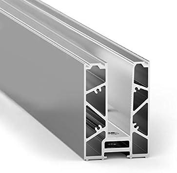 Barandilla de cristal con perfil de suelo, barandilla de cristal, barandilla de balcón de aluminio A50, kit de montaje para cristal, 17,50 mm (perfil de suelo 300 cm): Amazon.es: Bricolaje y herramientas