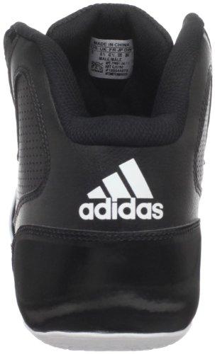 Adidas Heren Dagelijkse Dubbele Team Basketbalschoen Zwart / Zwart / Hardlopen Wit