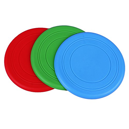 LIVEHITOP 3pcs Hund Wurfscheiben -weiche Haustier Frisbee-Spielzeug für Hunde Drei Farben