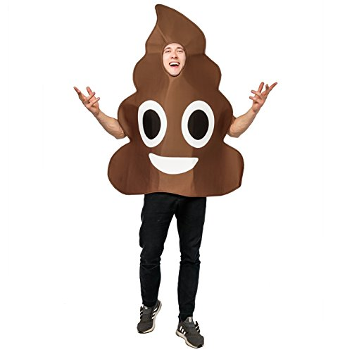 DSplay Emoticon Costumes for Unisex Adult OneSize (Poop)