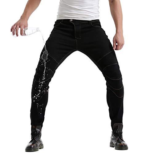 GuoCu Denim Motorradhose in Übergröße Herren Jeans Textilhose Sportliche Motorrad Hose mit Protektoren,Stretch Slim Fit…