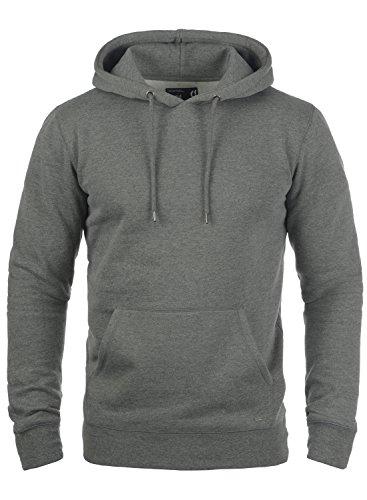 8236 Al Hoodie Capucha Bert Grey Para Suéter Sudadera Polar Forro Hombre Con Suave Melange solid Tacto SZxPqS