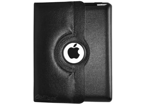 CrazyOnDigital Rotating Stand Leather Case  for the New iPad 3