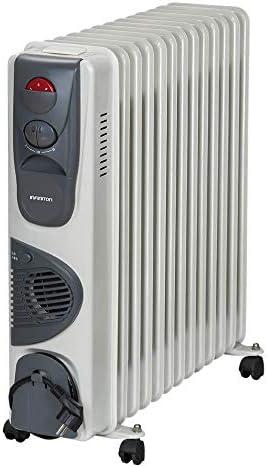 IN RADIADOR DE Aceite INFINITON Desde 700W/3000W (Control de Temperatura con termostato mecánico, 3 Niveles de Potencia, Soporte Anti-vuelco con Ruedas) (3000W (Ventilador)): Amazon.es: Hogar