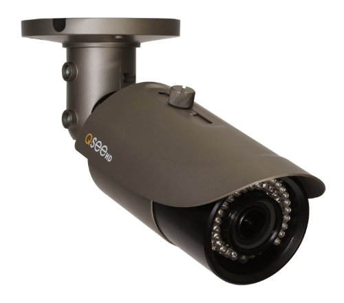 Varifocal Lens Stand - Q-See QTN8021B 1080p HD Varifocal Weatherproof IP Bullet Camera with 165-Feet Night Vision (Gray)