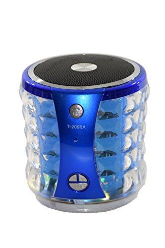 Bridgecraft BC-T2096A-BU Portable Mini Media Player Speaker with FM Micro Card U-Disk Line-in, Blue