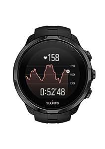 Suunto, Spartan Sport Wrist HR, Reloj GPS multisport para atletas, 12h de autonomía, Sumergible hasta 100m, Pulsómetro de muñeca, Pantalla táctil de color, Negro, SS022662000